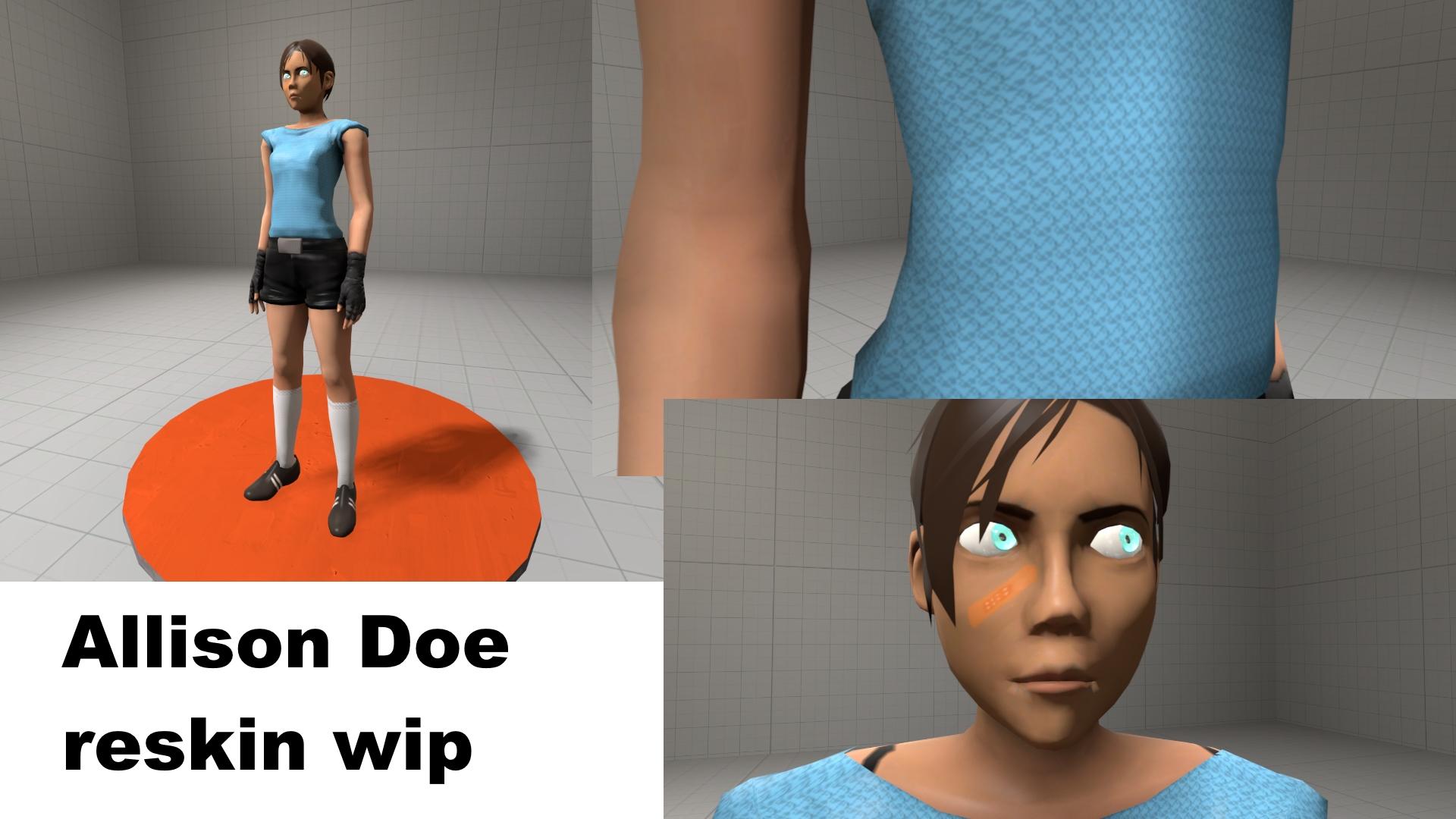 Allison Doe reskin WIP by Nikolad92