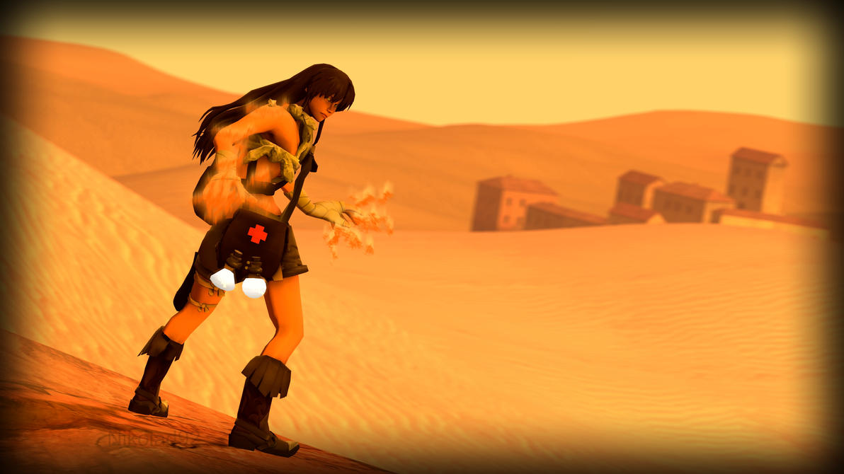 Desert fire by Nikolad92
