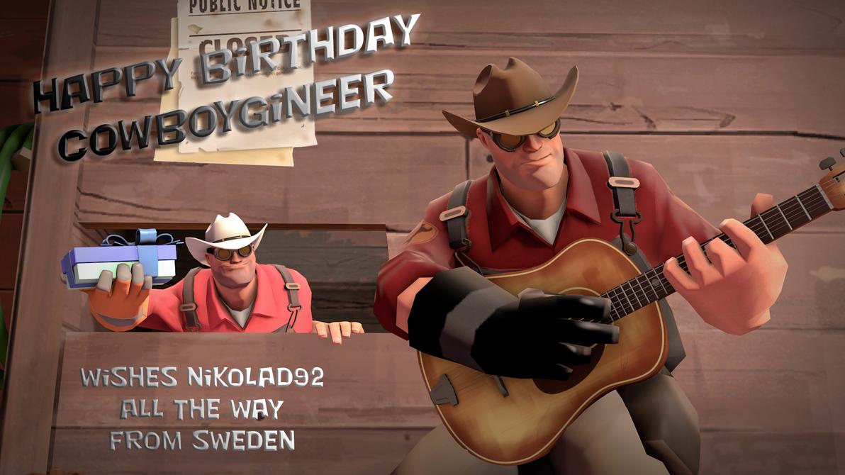 Happy BirthDay Cowboygineer by Nikolad92