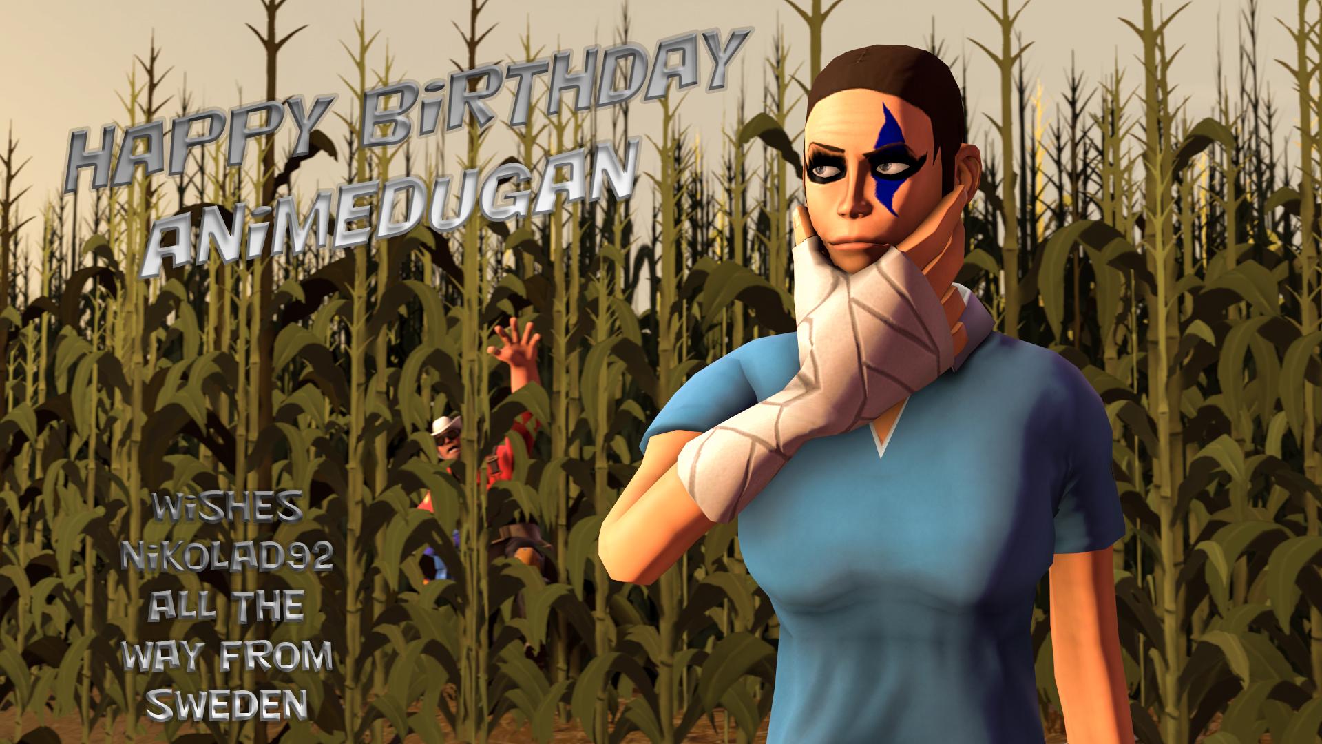 Happy BirthDay animedugan by Nikolad92