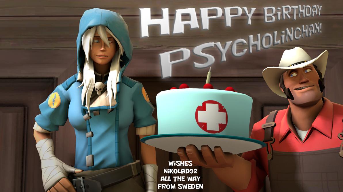 Happy Birthday PsychoLinChan by Nikolad92