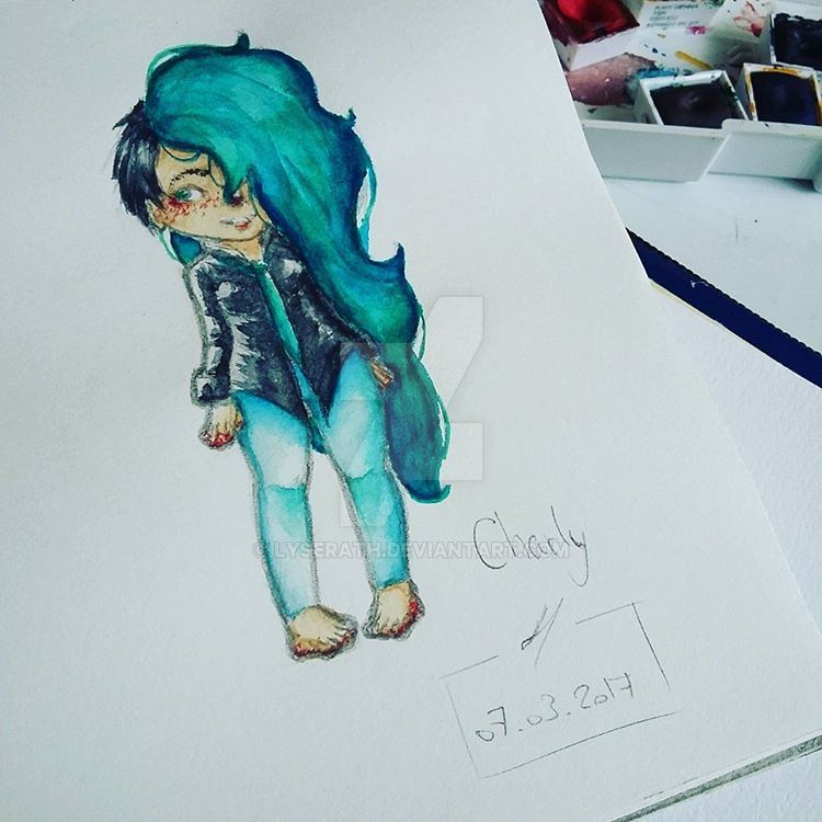 Charly - Watercolor. by Lyserath