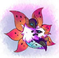 Pokemon: Volcarona and Larvesta by Nillratn