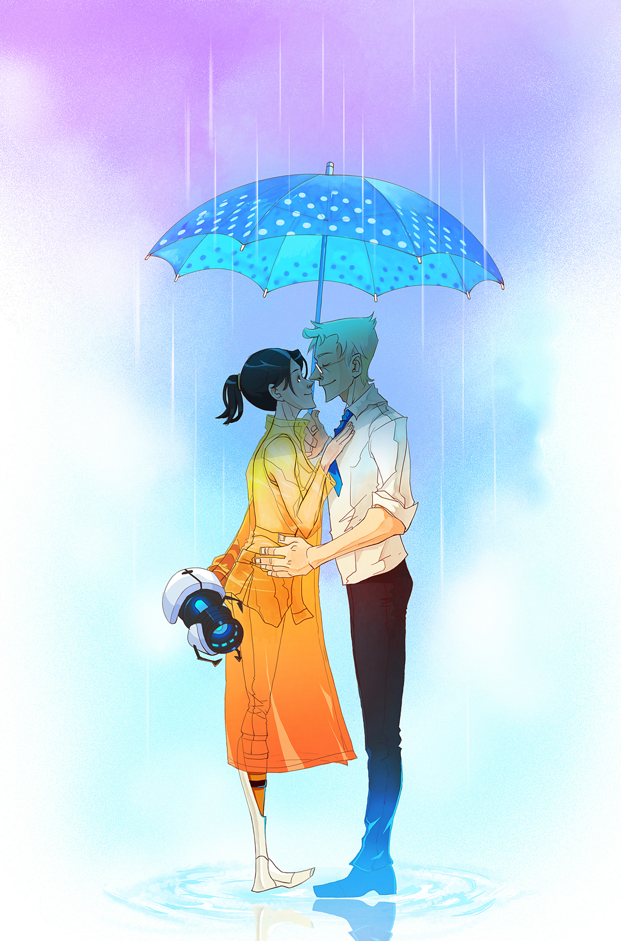 Portal2 Singin in the Rain by biggreenpepper