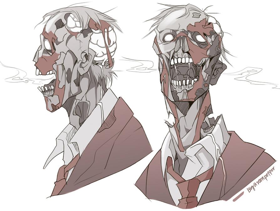 TF2 zombie Spy by biggreenpepper