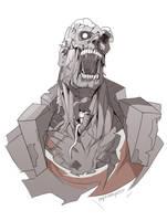 TF2 zombie Heavy by biggreenpepper