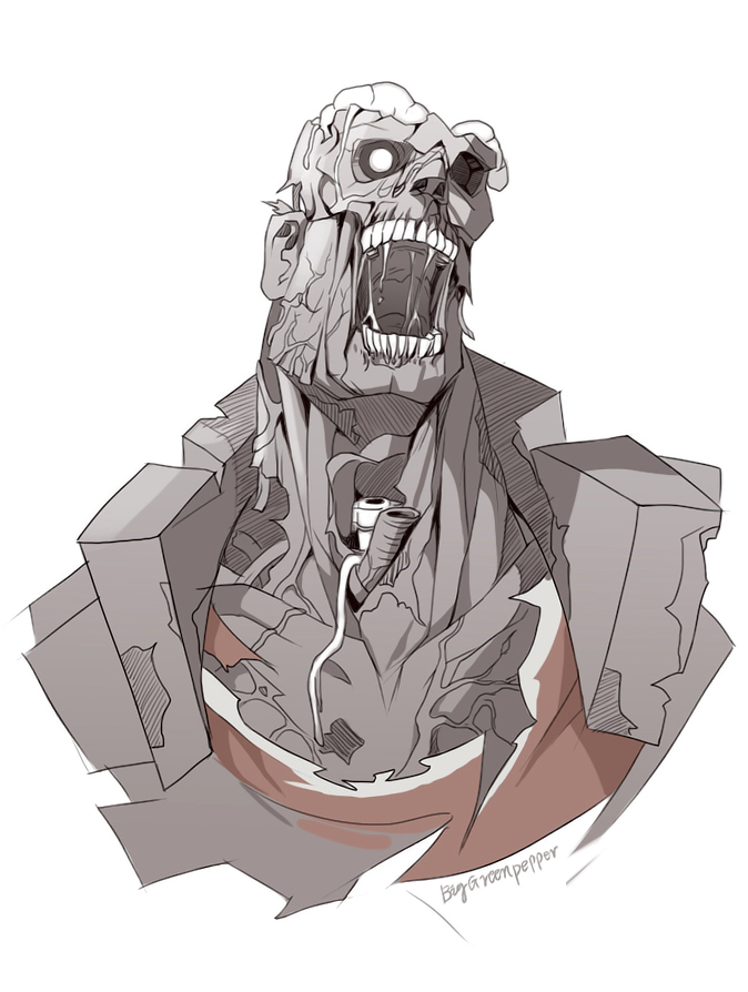 TF2 zombie Heavy by biggreenpepper