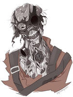 TF2 zombie Pyro by biggreenpepper