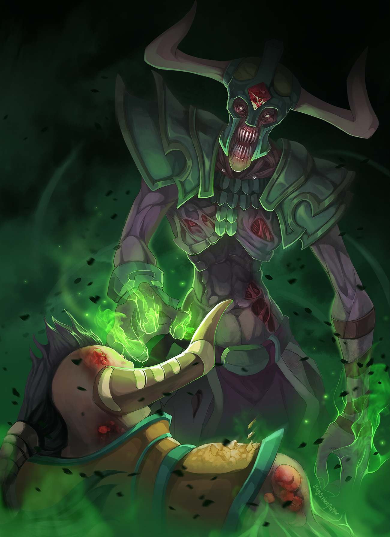Dota2 Undying Soul absorption by biggreenpepper