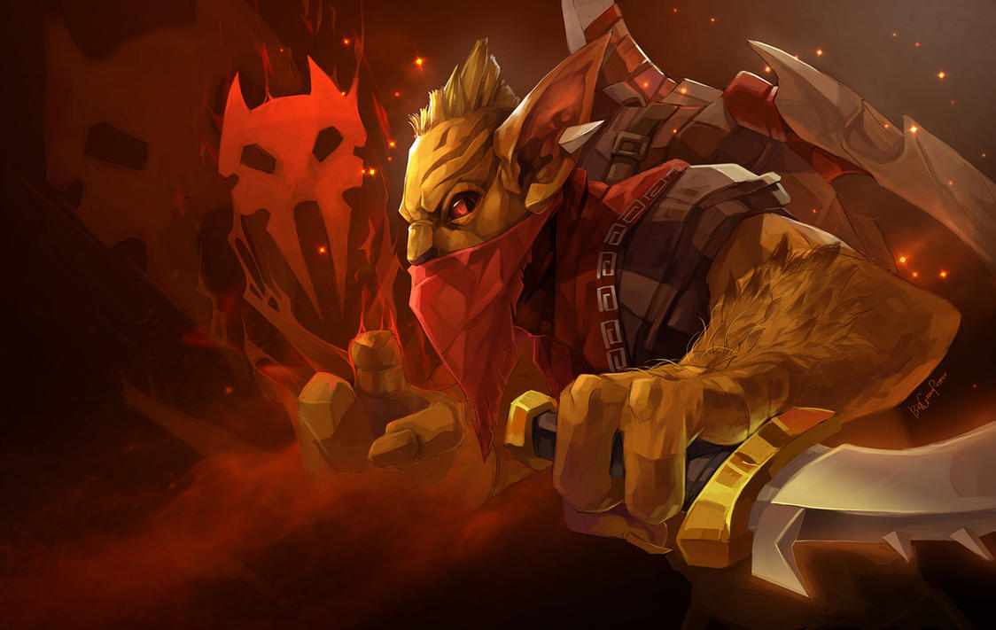 dota2 the bounty hunter gondar by biggreenpepper on deviantart