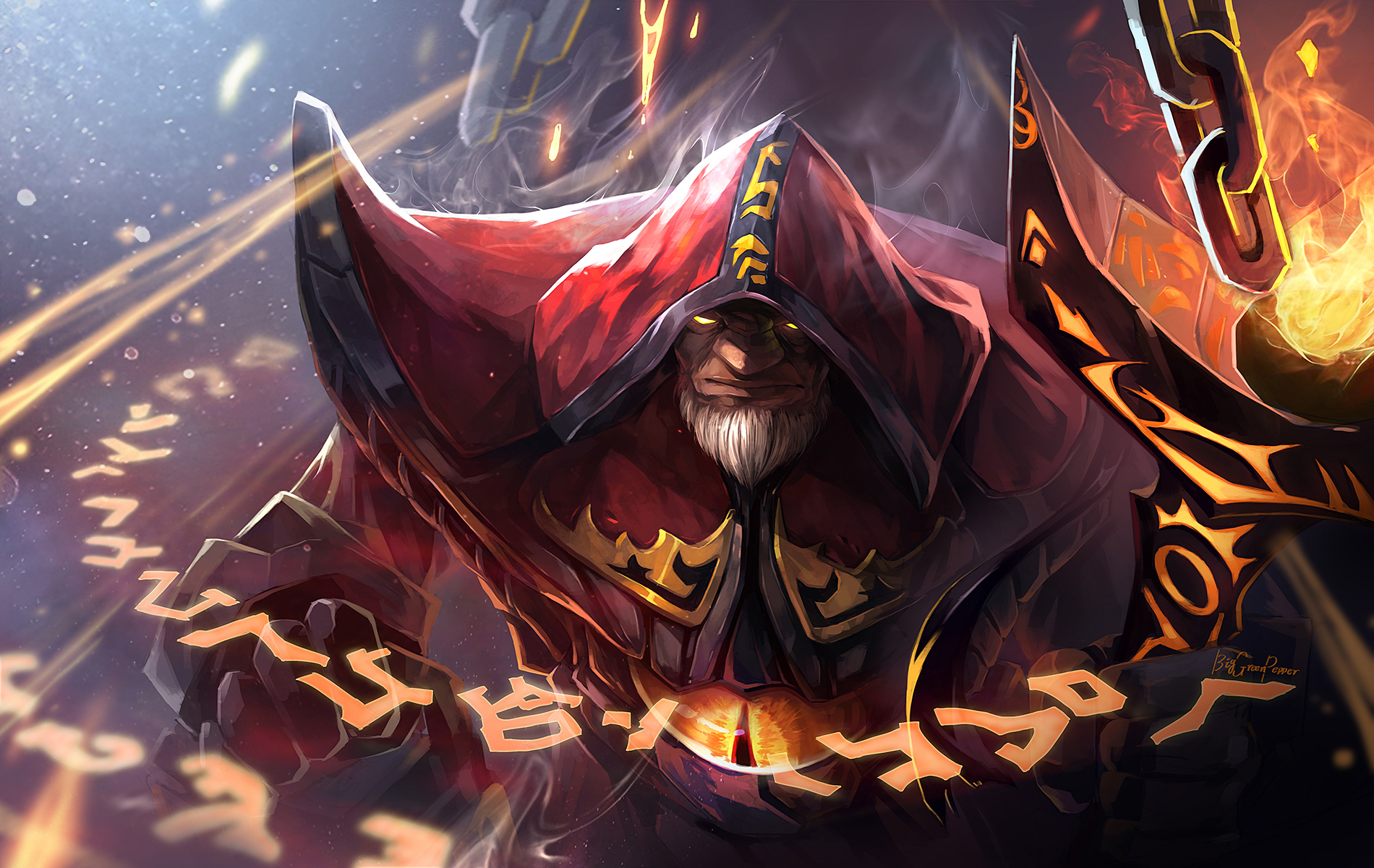 dota2 The Warlock by biggreenpepper