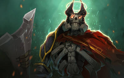 dota2 Remembering Skeleton King by biggreenpepper