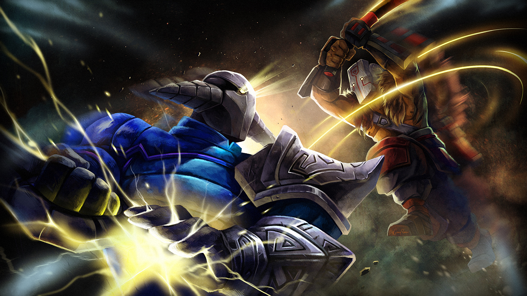dota 2 jugg vs sven by biggreenpepper on deviantart