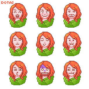 dota2 Windranger pixel by biggreenpepper