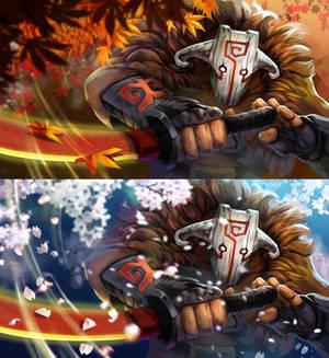 Dota2 Falling Leaf Blade Dance