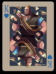 pokerTF2 K heavy blue by biggreenpepper