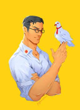 TF2 Medic and bird