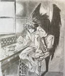 L from Death note by eseyyal