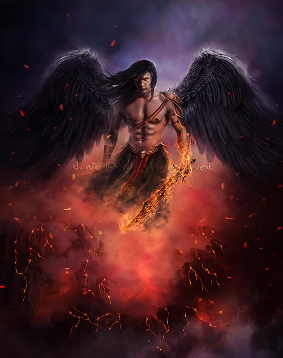 Dark Archangel by DaniaArts