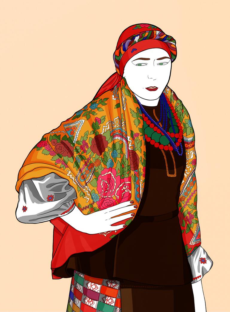 Cossack woman in Kiev by Reichenbach