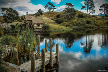 The little lake of Hobbiton by gerardamador