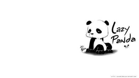 Lazy Panda wallpaper
