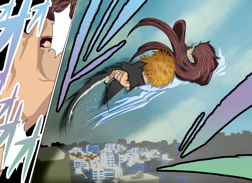 Bleach___ichigo vs aizen by imad-LP
