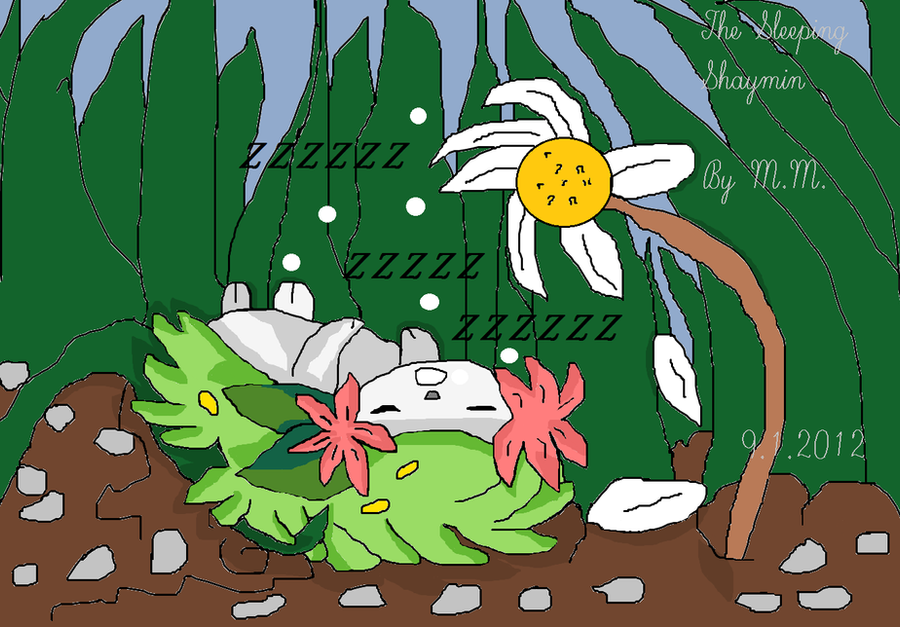 Sleeping Shaymin by mamc1986