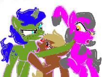 Pony Fight!!! by DemonaTheOperator