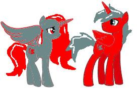 Pony Alicorn Twins by DemonaTheOperator