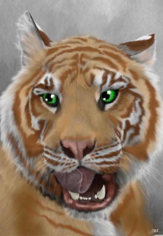 Strawberry Tiger by DemonaTheOperator