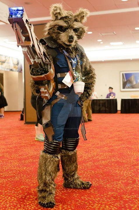 Rocket Raccoon cosplay by SolarisPhoenix
