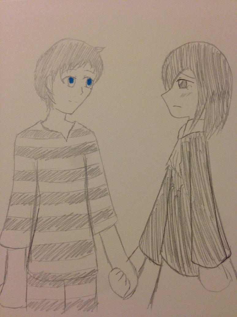 Random Doodle: Pharos and Utako by kncrystalmaiden
