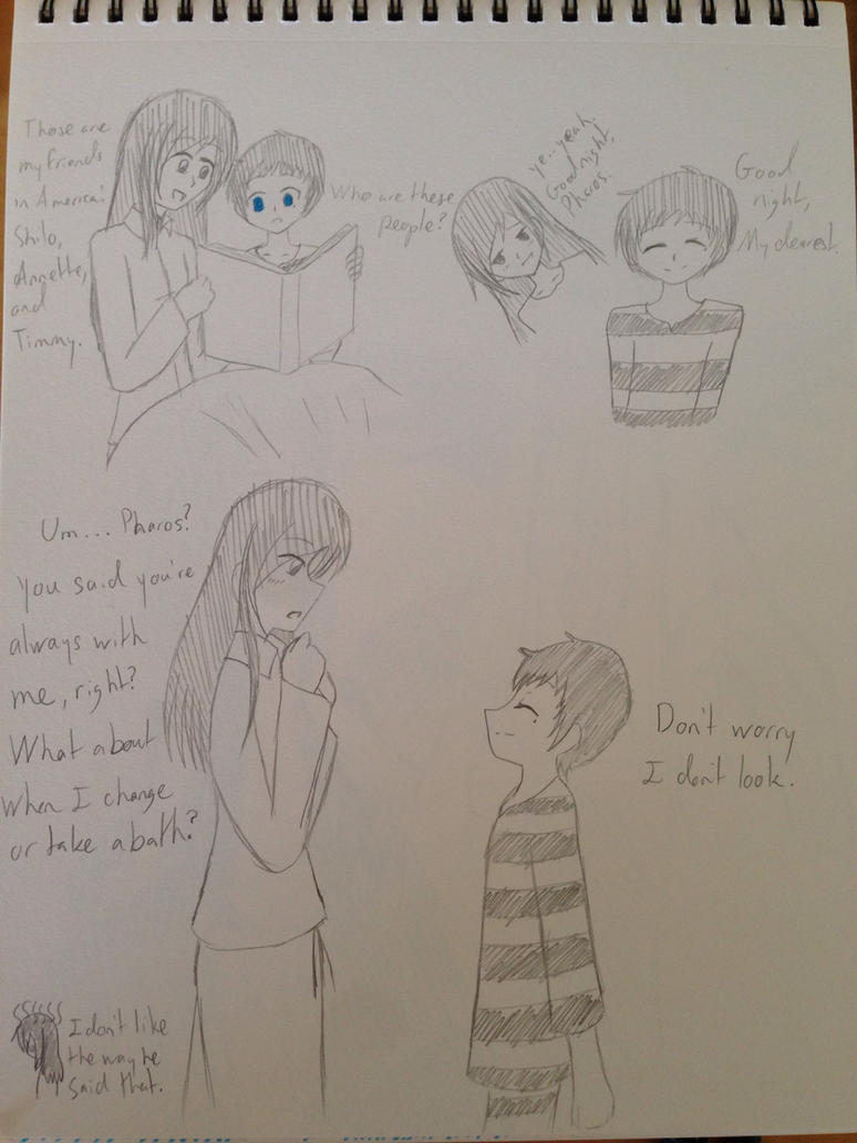 Pharos and Utako Doodles by kncrystalmaiden