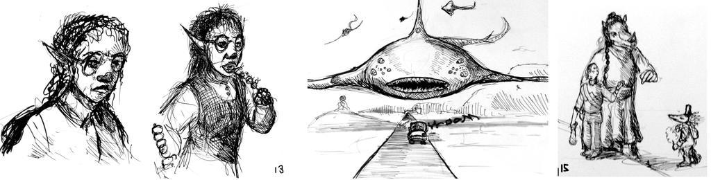OC- tober12 thru15 Sketches