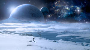 Snow planet wallpaper