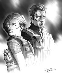 Shadow dyad: commission by TWKeller