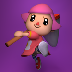 [GIFT] Ready for Smash! (Pink female villager)
