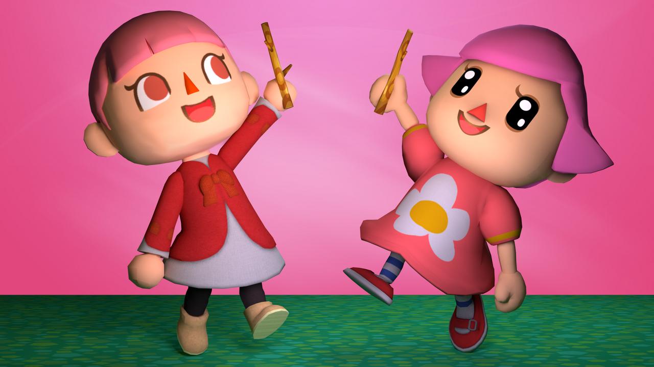 GIFT Pink Female Villagers! by TheAdorableOshawott on ...