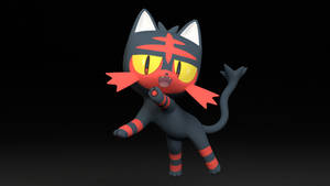 #725. Litten by TheAdorableOshawott
