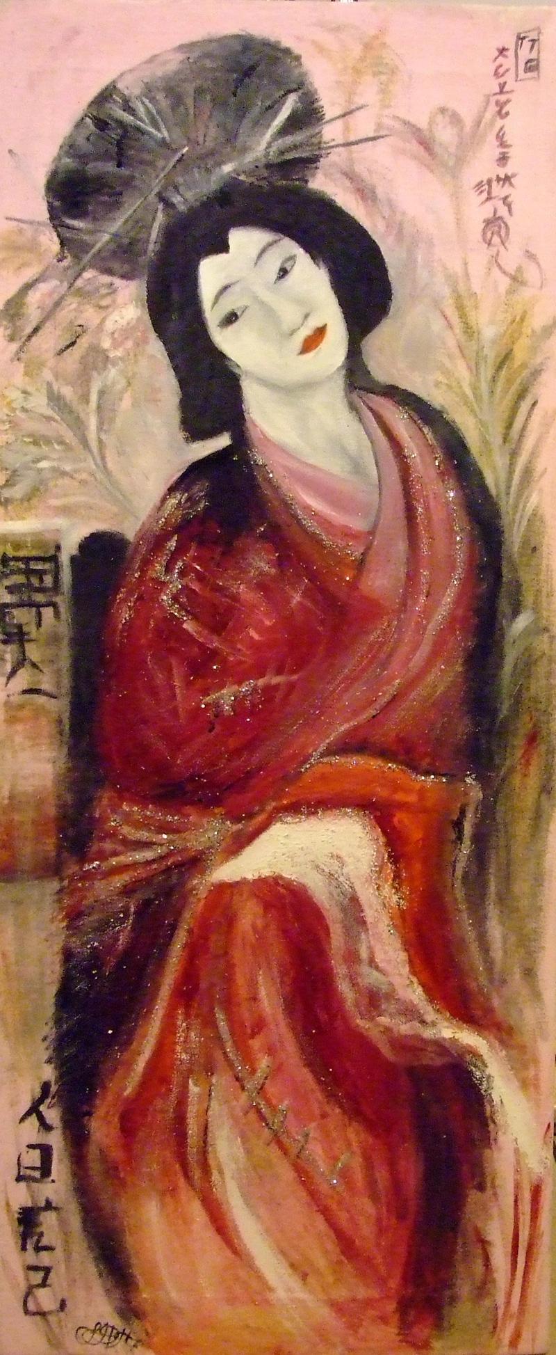 Geisha girl painting by morris