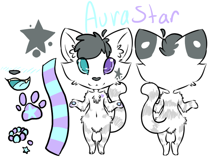 Aura's New Reference by Pika-Pika-Pikahu
