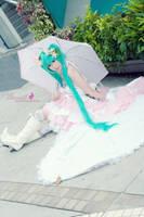 Cosplay - Miku Vocaloid2 by Korixxkairi