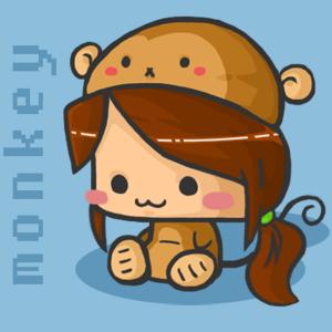 png: louise monkey by penguiinn
