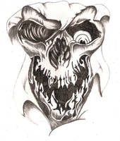 Creepy Skull by TheLob