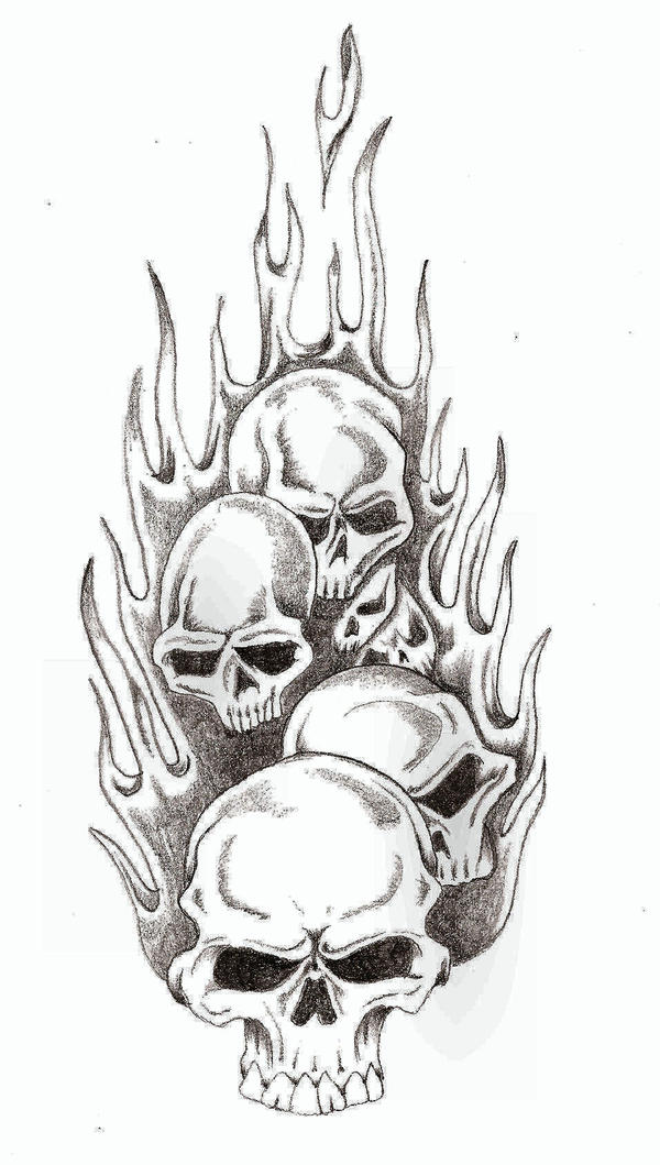 Skull Flames by TheLob