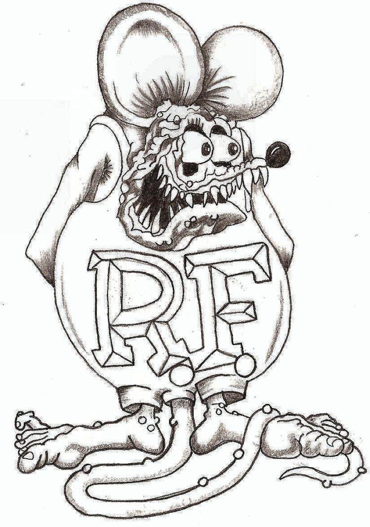rat fink coloring pages - rat fink by thelob on deviantart