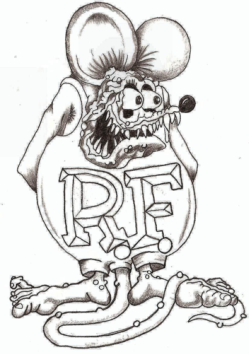 Rat Fink Coloring Pages Coloring
