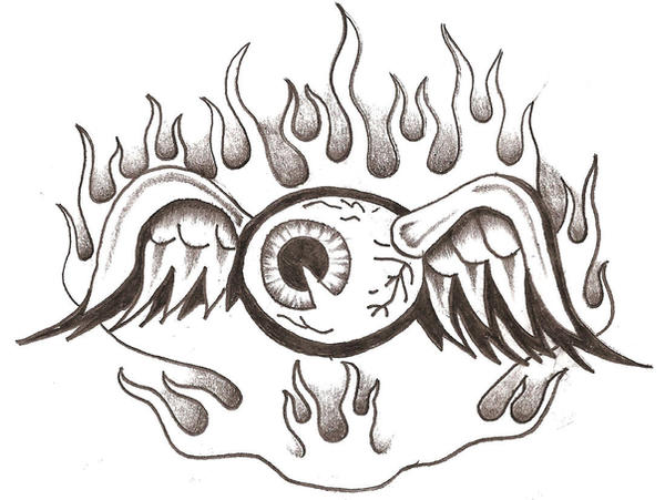 Von Dutch Flying Eyeball Tattoo Designs