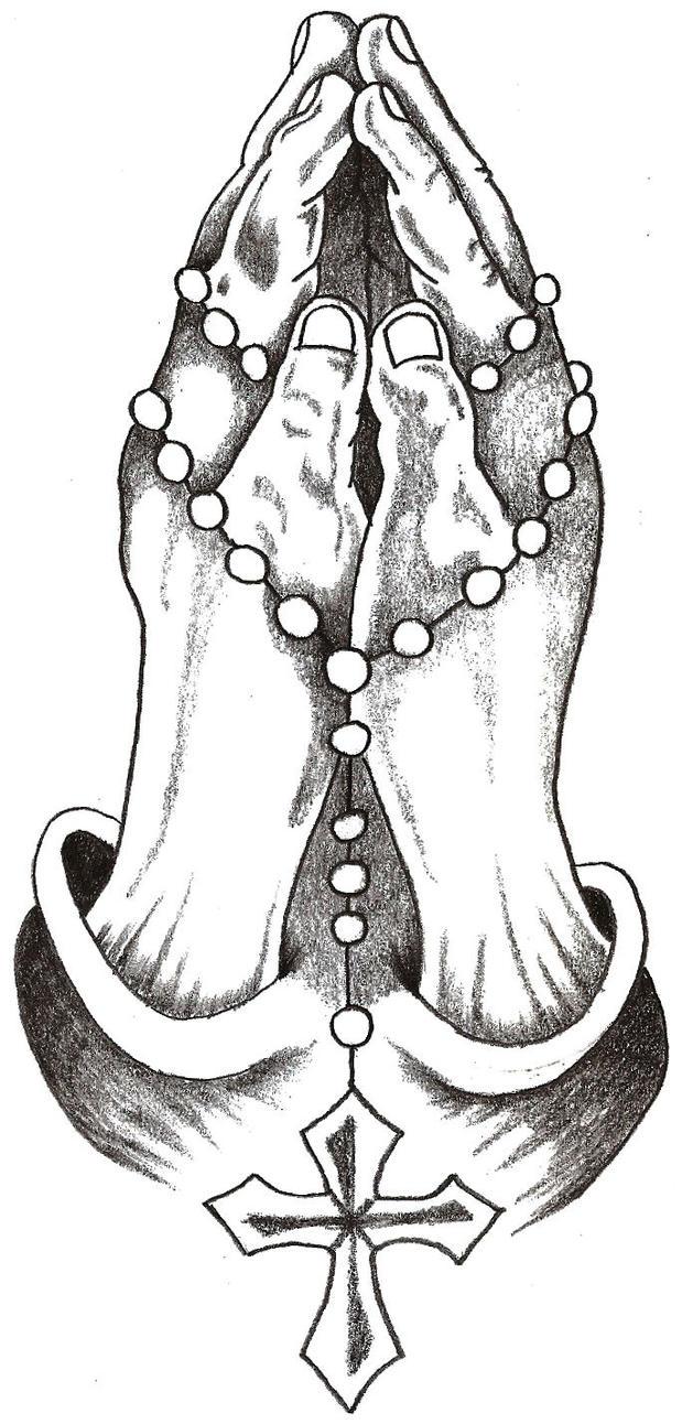 Ajke Detail Tattoo Designs Rosary Beads Cross